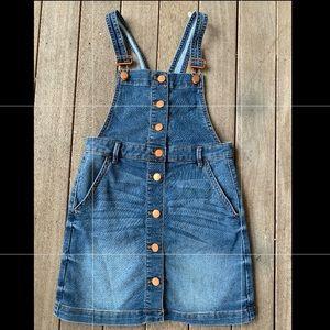 JCrew overall denim dress